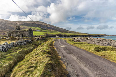Photograph - Valentia Island Ireland Road And Sea by John McGraw