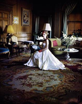 Photograph - Valentina In Her Drawing Room by Horst P. Horst