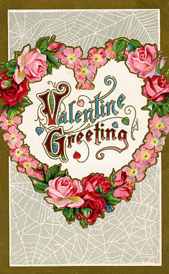 Art Prints Digital Art - Valentine Greeting by Graphicaartis