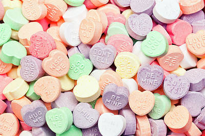 Valentines Candies With Message Art Print by Kativ