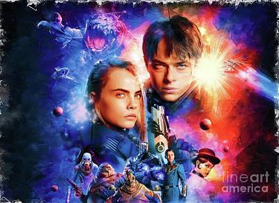 Digital Art - Valerian And The City Of A Thousand Planets Poster by Alexander Del Rey