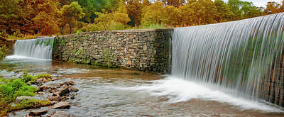 Photograph - Valley Creek Waterfall Panorama In Autumn by Bill Cannon