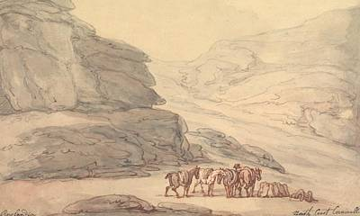 Drawing - Valley Of Stones, Lynton, Devon by Thomas Rowlandson