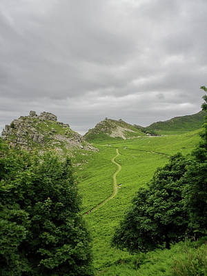 Photograph - Valley Of The Rocks Lynton Exmoor Devon by Richard Brookes