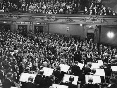 Photograph - Van Beinum Conducts by Erich Auerbach