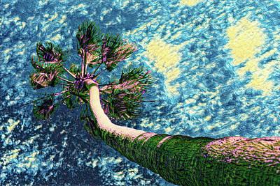 Digital Art - Van Goghs Palm Tree by Scott Campbell