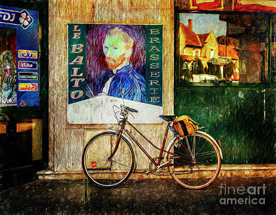 Photograph - Van Gogh's Peugeot Bicycle by Craig J Satterlee