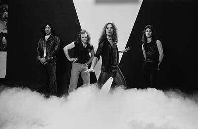 Photograph - Van Halen by Fin Costello