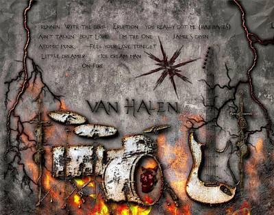 Digital Art - Van Halen Debut by Michael Damiani