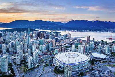 Photograph - Vancouver, B.c. Place Stadium by David Nunuk