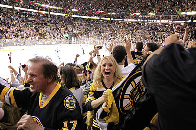 Photograph - Vancouver Canucks V Boston Bruins - by Jim Rogash