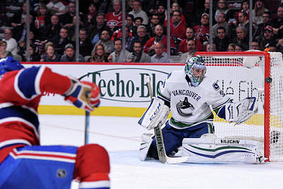 Photograph - Vancouver Canucks  V Montreal Canadiens by Richard Wolowicz