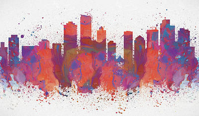 Painting - Vancouver Colorful Skyline by Dan Sproul