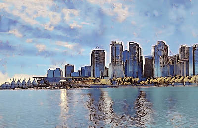 Vancouver From English Bay Art Print by Keith Cassatt