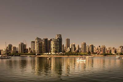 Photograph - Vancouver Golden Light Hour by Juan Contreras