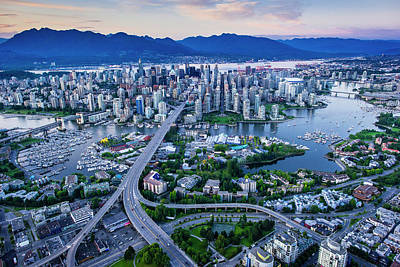 Photograph - Vancouver Including False Creek And by David Nunuk
