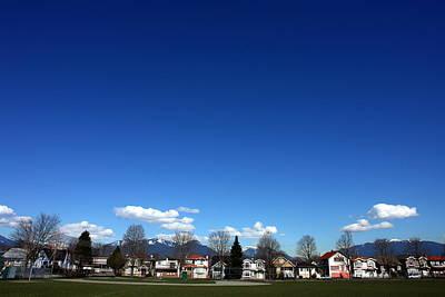 Photograph - Vancouver Neighborhood Under A Big Blue by Zennie