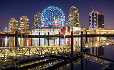 Photograph - Vancouver Skyline From Olympic Village by Alexis Birkill