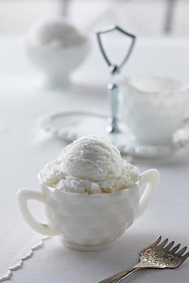 Photograph - Vanilla Ice Cream by Lew Robertson