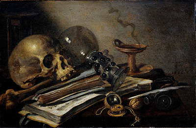 Painting - Vanitas, By Pieter Claesz 15967-1661 by Leemage