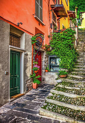 Photograph - Varenna Passageway 7 by Carolyn Derstine