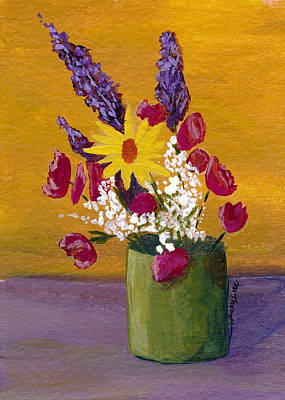 Painting - Vase 3 by Mary Elizabeth Thompson
