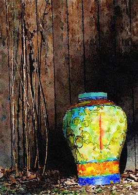 Digital Art - Vase And Fence by David Derr