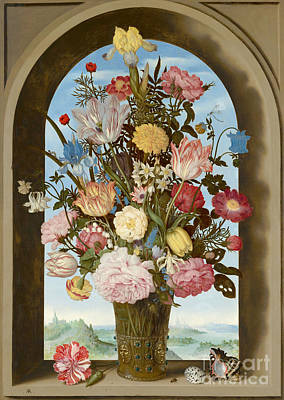 Painting - Vase Of Flowers In A Window Circa 1618 by Ambrosius the Elder Bosschaert