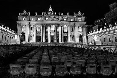 Photograph - Vatican City At Night  by John McGraw