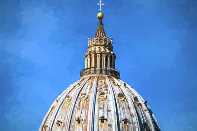 Photograph - Vatican Dome Inspired By Van Gogh by Tony Grider
