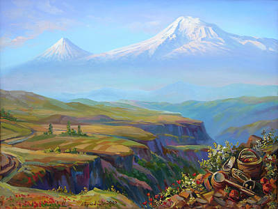 Painting -  Vayots Dzor Armenia by Meruzhan Khachatryan