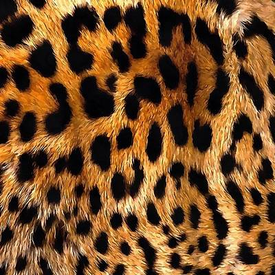 Painting - Vegan Leopard Skin Animal Fur Design by Taiche Acrylic Art