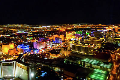 Photograph - Vegas Nights by SR Green