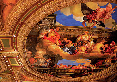 Photograph - Vegas - Venetian - The Ceiling  by Mike Savad
