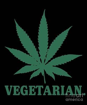 Digital Art - Vegetarian Cannabis Weed by Flippin Sweet Gear