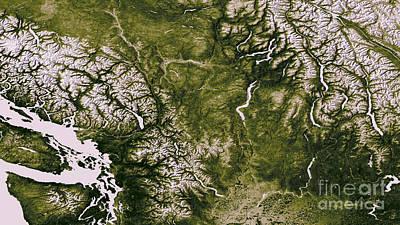 Photograph - Vegetation In North America by Nasa Noaa
