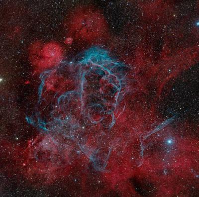 Photograph - Vela Supernova Remnant by Image By Marco Lorenzi, Www.glitteringlights.com
