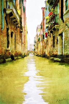 Painting - Venetian Canal by Diane Chandler