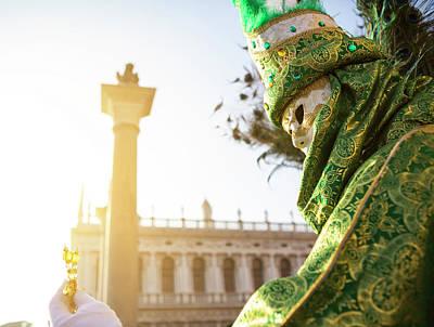 Digital Art - Venetian Carnival  by Tanel Murd