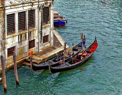Photograph - Venetian Gondolas by Anthony Dezenzio