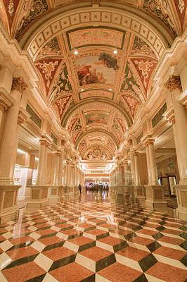 Photograph - Venetian Las Vegas Hotel Lobby by Alex Grichenko