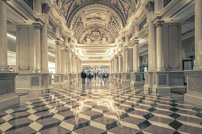 Photograph - Venetian Lobby Las Vegas by Alex Grichenko