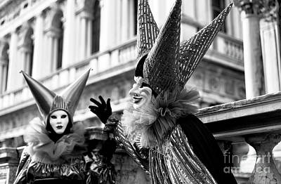 Photograph - Venezia Carnival Jester by John Rizzuto
