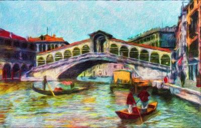 Painting - Venezia, Ponte Rialto by Vincent Monozlay