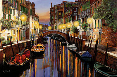 Lazy Cats - Venice at Dusk by Guido Borelli