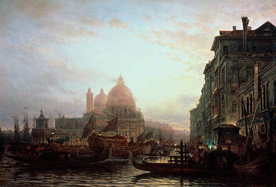 Painting - Venice At Night By Alexey Petrovich by Anatoly Sapronenkov