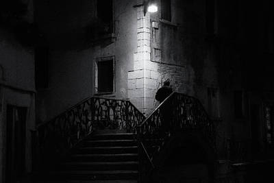 Photograph - Venice At Night Fine Art Street Photography by Frank Andree