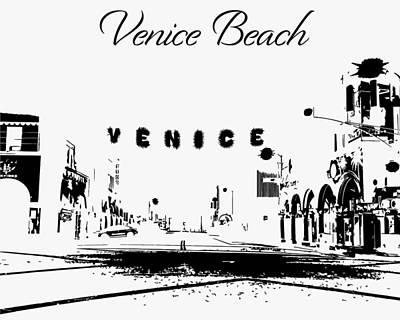 Photograph - Venice Beach California Silhouette by John McGraw