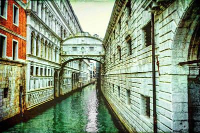 Venice Bridge Of Sighs Art Print