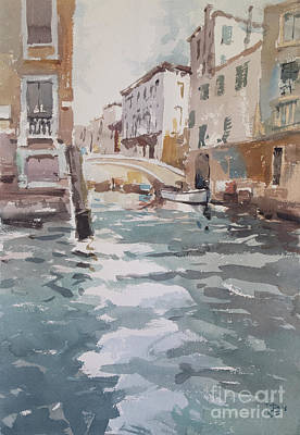 Wall Art - Painting - Venice Canal 2018 by Tony Belobrajdic